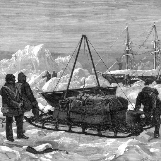 Preparing to Start on a Sledge Trip in the Arctic, 1875-W Palmer-Giclee Print