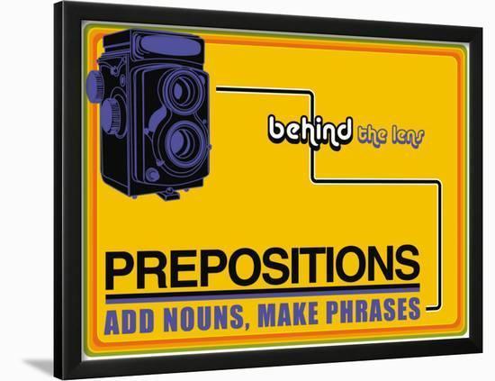 Prepositions--Lamina Framed Art Print