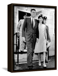 Pres and Jacqueline Kennedy Walk Hand-In-Hand after Death of Infant Son, Patrick Bouvier Kennedy