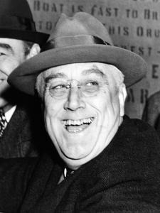 Pres Franklin Roosevelt Breaks Ground for $80,000,000 Brooklyn-Battery Tunnel Project, Oct 28, 1940