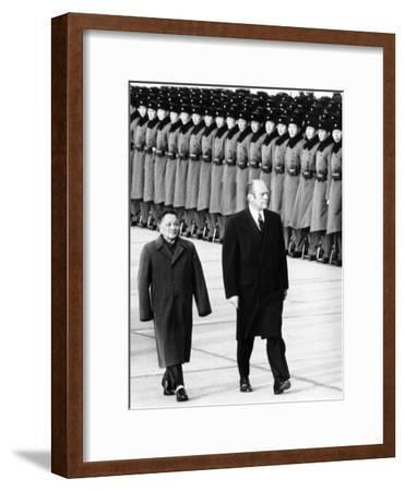 Pres Gerald Ford Walks with China's Vice Premier Deng Xiaoping During Visit to China, Dec 5, 1975