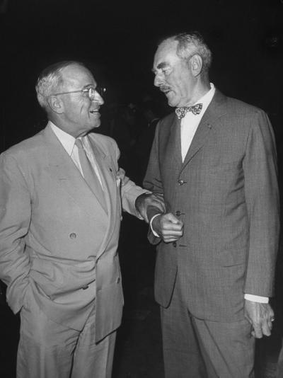 Pres. Harry S. Truman Talking to Dean Acheson--Photographic Print