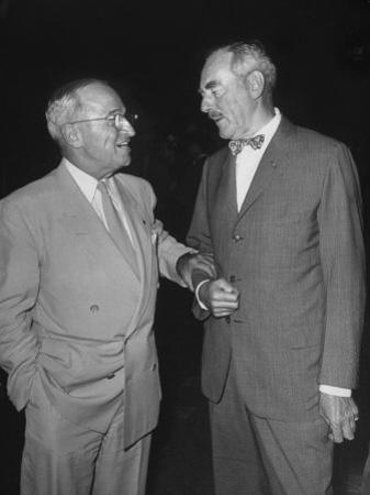 Pres. Harry S. Truman Talking to Dean Acheson