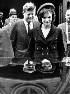 Pres John and Jacqueline Kennedy Leaving Newport's St Mary's Church Where They Attended Mass