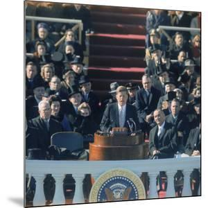 Pres. John F. Kennedy Delivering His Inaugural Speech