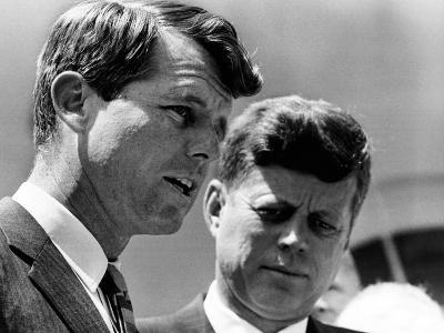 Pres John Kennedy and Attorney General Robert Kennedy at Ceremonies Honoring African Americans--Photo