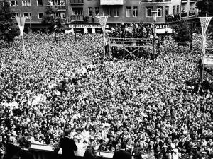 Pres Kennedy Tells Crowd at West Berlin City Hall, 'Ich Bin Ein Berliner,' Jun 26, 1963