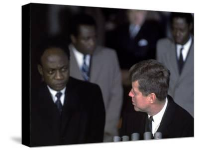 Pres. of Ghana Kwame Nkrumah Meeting W. Us Pres. John F. Kennedy to Discuss the Situation in Africa