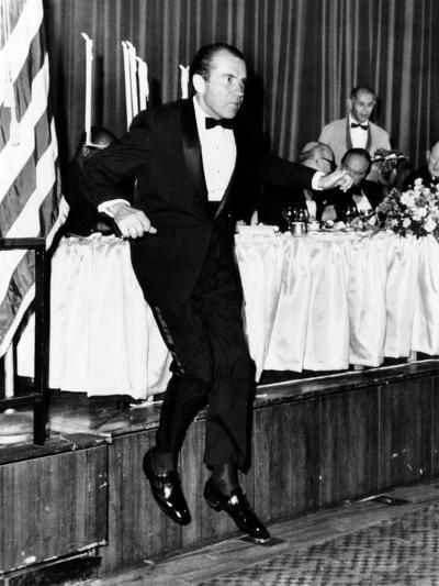 Pres Richard Nixon at Memorial Dinner in Honor of Late Pres Dwight D Eisenhower, Oct 14, 1969--Photo