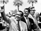 Pres Richard Nixon, Gov Ronald Reagan and Donald Johnson, Administrator of Veterans Affairs
