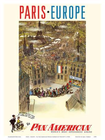 Paris - Europe - via Pan American World Airways
