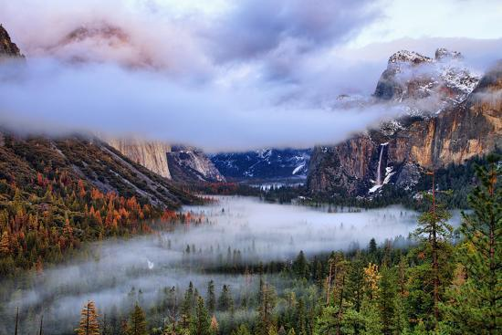 Presence, Clearing Storm and Fog at Tunnel View, Yosemite National Park-Vincent James-Photographic Print
