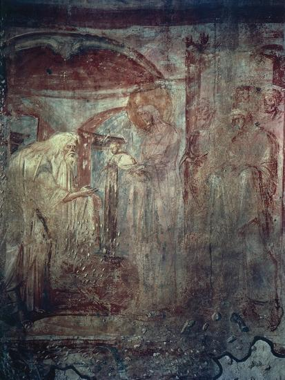 Presentation in Temple, Fresco by Master of Castelseprio--Giclee Print