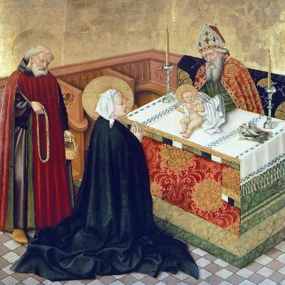 Presentation in Temple, Scene from Life of Virgin, Side Panel of King Albert's Altar--Giclee Print
