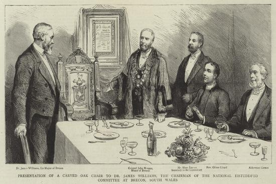 Presentation of a Carved Oak Chair to Dr James Williams--Giclee Print