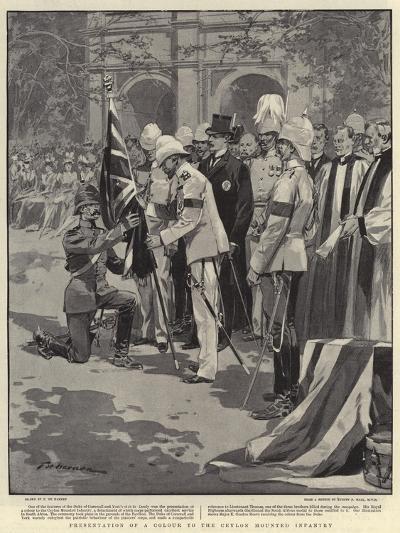 Presentation of a Colour to the Ceylon Mounted Infantry-Frederic De Haenen-Giclee Print