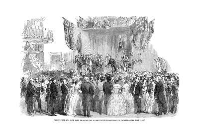 Presentation of a Gold Vase, at Melbourne, to the Lieutenant Governor of Victoria, 1854--Giclee Print