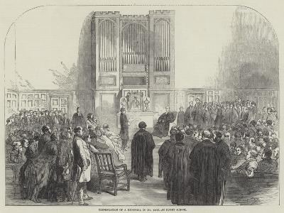Presentation of a Memorial to Dr Tait, at Rugby School--Giclee Print