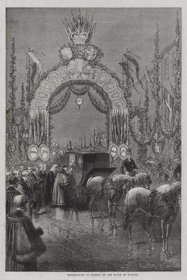Presentation of Address by the Mayor of Windsor--Giclee Print