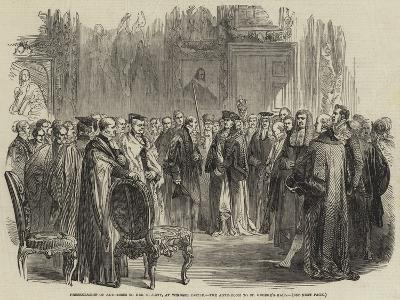 Presentation of Addresses to Her Majesty, at Windsor Castle, the Ante-Room to St George's Hall--Giclee Print