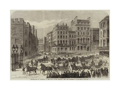 Presentation of Addresses to the King of the Belgians, the City Procession in Pall-Mall--Giclee Print