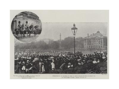 Presentation of Colours to the 3rd Scots Guards by King Edward VII at the Horse Guards' Parade on 2--Giclee Print