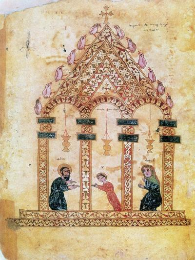Presentation of Jesus at the Temple, 13th Century--Giclee Print