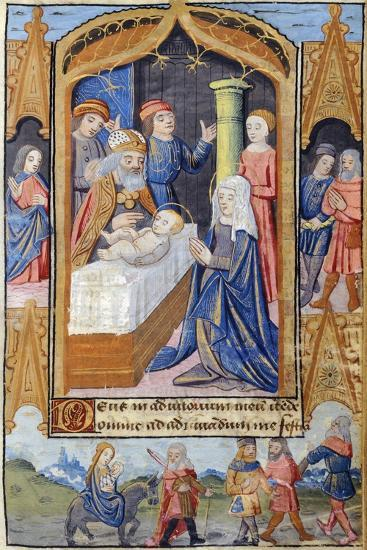 Presentation of Jesus in the Temple, Miniature from the Book of Hours Use of Poitiers--Giclee Print