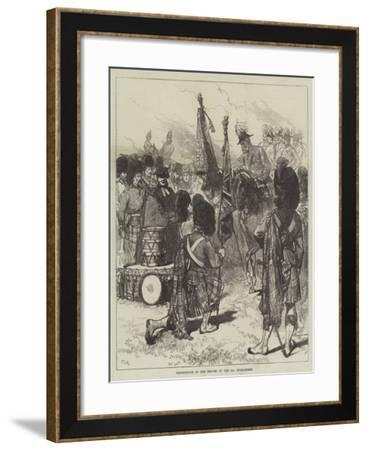 Presentation of New Colours to the 42nd Highlanders-Charles Robinson-Framed Giclee Print