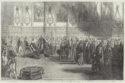Presentation of the Address of the Corporation of London to Her Majesty--Giclee Print