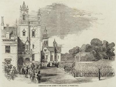 Presentation of the Address to Her Majesty, at Worsley Hall--Giclee Print
