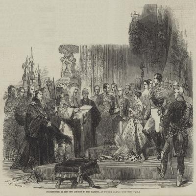 Presentation of the City Address to Her Majesty, at Windsor Castle--Giclee Print
