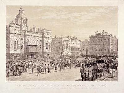 Presentation of the Crimean Medal by Queen Victoria to Colonel Sir Thomas Trowbridge, May 18th 1855-Day & Son-Giclee Print