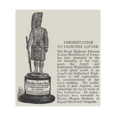 Presentation to Princess Louise--Giclee Print