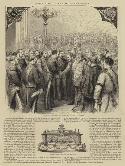 Presentation to the King of the Belgians-Godefroy Durand-Giclee Print