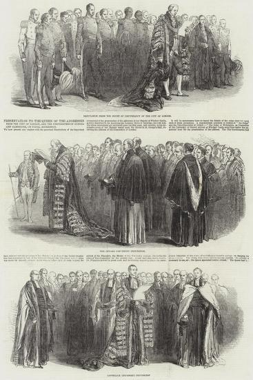 Presentation to the Queen of the Addresses from the City of London--Giclee Print