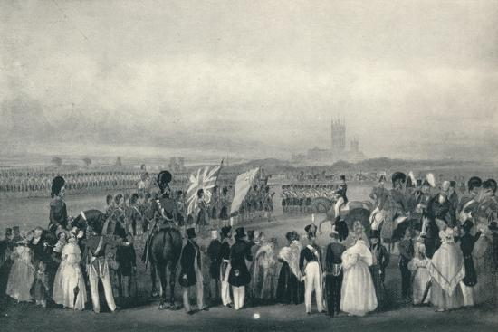 'Presenting New Colours to the 93rd Highlanders, Oct. 7th, 1834', 1834 (1909)-Unknown-Giclee Print