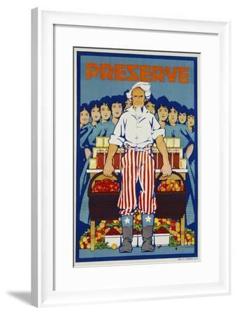 Preserve War Effort Poster--Framed Giclee Print