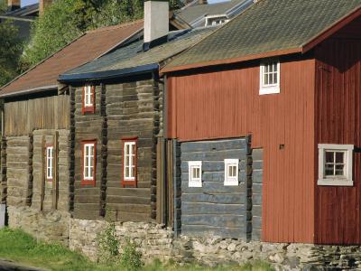 Preserved Miners' Houses, World Heritage Site of Roros, Trondelag, Norway, Scandinavia, Europe-Anthony Waltham-Photographic Print
