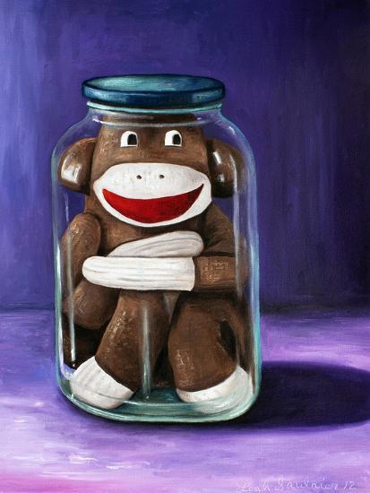 Preserving Childhood Sock Monkey-Leah Saulnier-Giclee Print