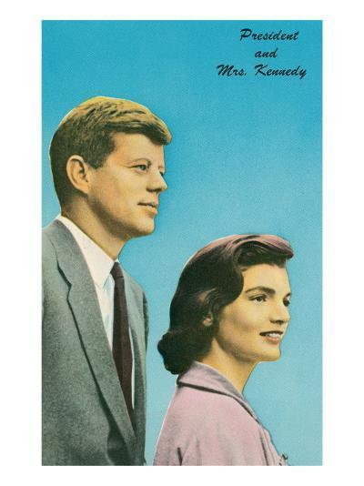 President and Mrs. Kennedy--Art Print