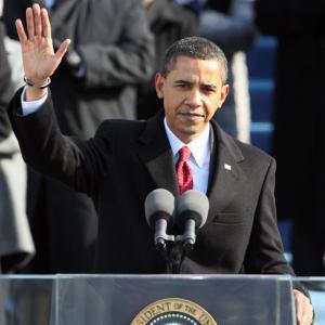 President Barack Obama Waves Before His Inaugural Address, Washington DC, January 20, 2009