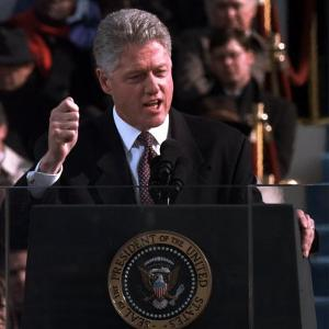 President Clinton Delivers Inaugural Speech after Being Sworn in for Second Term, January 20, 1997