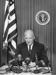 President Eisenhower Recording a Message for the Committee for Religion in American Life, Inc