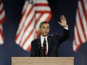 President-Elect Barack Obama Acceptance Speech, Grant Park, Chicago, Illinois, Nov 4, 2008