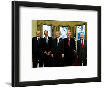 President-elect Barack Obama with All Living Presidents Smiling, January 7, 2009