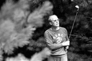 President Ford Golfing on a Labor Day Week-End Trip to Camp David. Sept. 2 1974