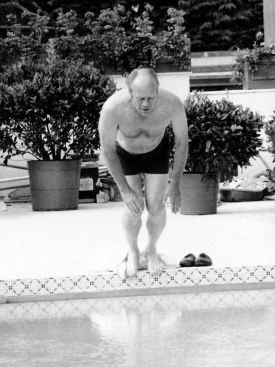 President Ford Swimming in the New White House Swimming Pool, July 5, 1975--Photo