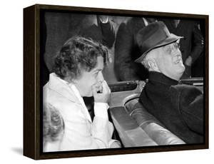 President Franklin and Eleanor Roosevelt During Informal Press Conference at Warms Springs, Georgia