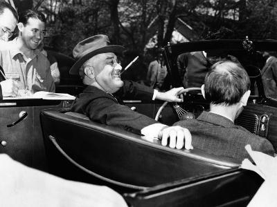President Franklin Roosevelt, Debonair with His Cigarette Holder--Photo